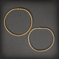 Pre-Columbian:Metal/Gold, TWO LARGE PRE-COLUMBIAN GOLD HOOPS... (Total: 2 Items)
