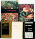 Books:Art & Architecture, [Pre-Raphaelites]. Group of Five Foreign Language Books on the Pre-Raphaelites. Various publishers and dates. ... (Total: 5 Items)