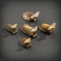 Pre-Columbian:Metal/Gold, FIVE VERAGUAS GOLD FROGS. c. 900 - 1100 AD... (Total: 5 Items)