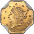 California Fractional Gold , 1859 50C Liberty Octagonal 50 Cents, BG-902, Low R.4, MS67 NGC....