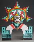 American Indian Art:Kachina Dolls, A HOPI POLYCHROME TABLETA...