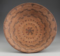 American Indian Art:Baskets, AN APACHE POLYCHROME COILED BOWL...