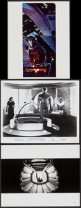 """Movie Posters:Science Fiction, 2001: A Space Odyssey & Other Lot (MGM, 1968/R-1980). Photos (2) & Color Photo (8"""" X 10""""). Science Fiction.. ... (Total: 3 Items)"""