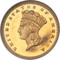 Proof Gold Dollars, 1880 G$1 PR64 Cameo NGC. CAC....