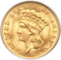 Three Dollar Gold Pieces, 1888 $3 MS64 PCGS. CAC....