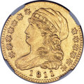 Early Half Eagles, 1811 $5 Small 5, BD-2, R.3 -- Damaged -- NGC Details. AU....