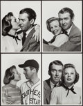 "Movie Posters:Sports, James Stewart and June Allyson in The Stratton Story (MGM, 1949). Portrait Photos (4) (10"" X 13""). Sports.. ... (Total: 4 Items)"