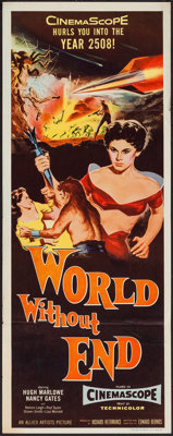 "World Without End (Allied Artists, 1956). Insert (14"" X 36""). Science Fiction"