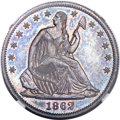 Patterns, 1862 50C Half Dollar, Judd-295, Pollock-353, R.5, PR64 NGC. CAC....