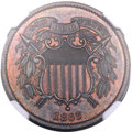 Patterns, 1863 2C Two Cents, Judd-312, Pollock-377, R.4, PR64 Brown NGC. CAC....