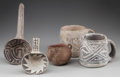 American Indian Art:Pottery, FIVE ANASAZI POTTERY ITEMS... (Total: 5 Items)