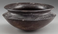 Pre-Columbian:Ceramics, A WEST MEXICAN BLACKWARE BOWL. Probably Chupicuaro Culture. c. 400- 200 BC...
