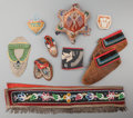 American Indian Art:Beadwork and Quillwork, Nine Miscellaneous Iroquois Beaded Cloth Items... (Total: 9 Items)
