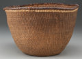 American Indian Art:Baskets, A QUINAULT TWINED BASKET...