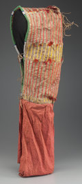 American Indian Art:Beadwork and Quillwork, A SIOUX QUILLED AND BEADED HIDE BABY CARRIER. c. 1890...