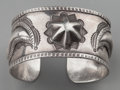 American Indian Art:Jewelry and Silverwork, A NAVAJO SILVER BRACELET. c. 1940...