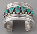 American Indian Art:Jewelry and Silverwork, A COCHITI SILVER AND TURQUOISE BRACELET. Joe Quintana. c. 1965...
