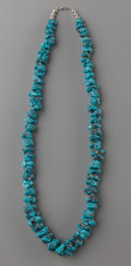 American Indian Art:Jewelry and Silverwork, A SOUTHWEST TURQUOISE NUGGET NECKLACE. c. 1990...