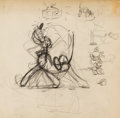Animation Art:Production Drawing, Pluto Animation Drawing Group (Walt Disney, c. 1930s).... (Total:10 Original Art)