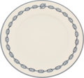 "Luxury Accessories:Home, Hermes Set of Twelve; Blue & White Chaine d'Ancre LimogesPorcelain Dinner Plates. Pristine Condition. 11""Diameter... (Total: 2 Items)"