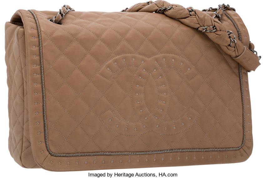 1b820c7d23bc VeryGood; Luxury Accessories:Bags, Chanel Beige Quilted Lambskin Leather  Lady Braid Flap Bag .