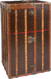 "Louis Vuitton Classic Monogram Canvas Wardrobe Trunk Good Condition 26"" Width x 21.5"" Height x 44"