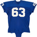 Football Collectibles:Uniforms, Early 1970's Doug Van Horn Game Worn New York Giants Jersey - Originally Displayed at Giants Legacy Club!...