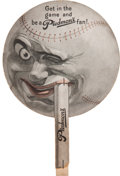 Baseball Collectibles:Others, Circa 1911 Piedmont Cigarettes Baseball Advertising Fan....