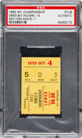 Football Collectibles:Tickets, 1962 NFL Championship Game Packers vs. Giants Ticket Stub PSA Authentic. ...