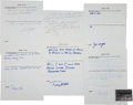 Baseball Collectibles:Others, 1960's Baseball Players Signed Baseball History Questionnaires Lotof 45....