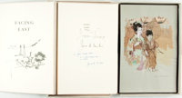 James A. Michener. Jack Levine, illustrations. SIGNED/LIMITED. Facing East. New York