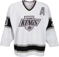 Hockey Collectibles:Uniforms, 1990-91 Luc Robitaille Game Worn Los Angeles Kings Jersey....