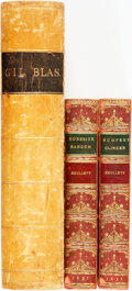 Books:Literature Pre-1900, Group of Three Books by T. Smollett. The Expedition of HumphryClinker. London: Cochrane and Pickersgill, 1813. [And...(Total: 3 Items)