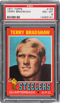 Football Cards:Singles (1970-Now), 1971 Topps Terry Bradshaw #156 PSA NM-MT 8....