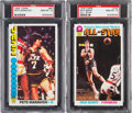 Basketball Cards:Singles (1970-1979), 1976 Topps Barry & Maravich PSA Gem Mint 10 Pair. ...