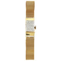 Timepieces:Wristwatch, Primus Incabloc 14k Gold & Diamond Covered Dial Wristwatch. ...