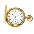 Timepieces:Pocket (pre 1900) , Waltham 17 Jewel Hunter's Case Pocket Watch. ...