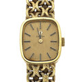 Timepieces:Wristwatch, Omega 14k Gold Lady's Wristwatch. ...