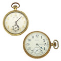 Timepieces:Pocket (post 1900), Elgin & Hamilton Open Face Pocket Watches. ... (Total: 2 Items)