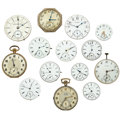 Timepieces:Pocket (post 1900), A Lot Of Fourteen Pocket Watch Movements. ... (Total: 14 Items)