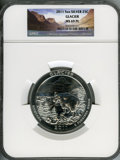 2011 25C Glacier Five Ounce Silver MS69 Prooflike NGC. NGC Census: (0/0). PCGS Population (1997/0). Numismedia Wsl. Pric...
