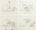 "Animation Art:Production Drawing, Planter's Peanuts ""Circus Hero"" Mr. Peanut Commercial AnimationDrawing Group (Planters, c. 1940-50s).... (Total: 26 Original Art)"