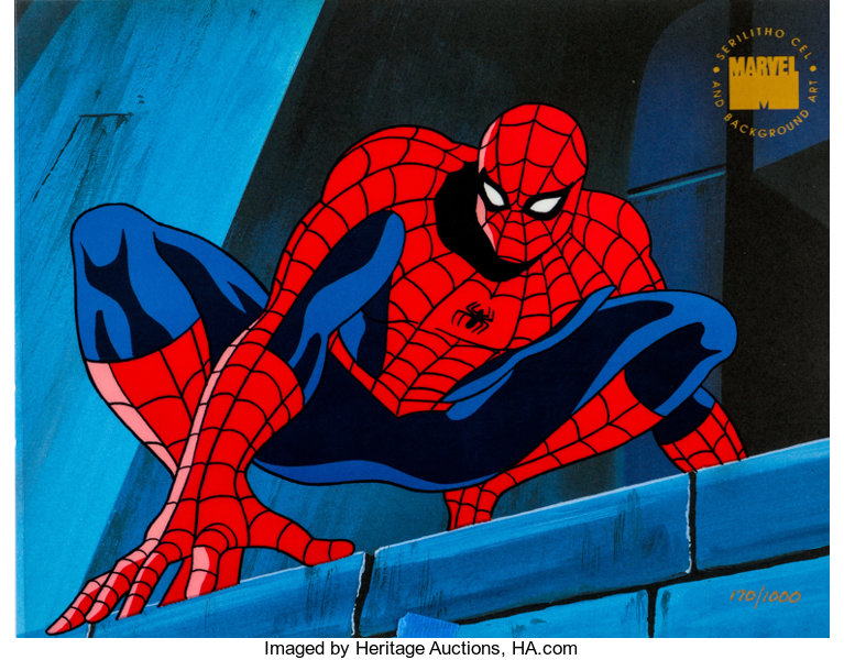 Spider Man The Animated Series Limited Numbered Serilitho Cel Lot