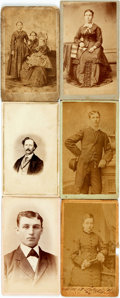 Photography:CDVs, [Photography]. Group of Six Cartes de Visite. Ca. 1860s. Measureapproximately 4 inches x 2.5 inches. Overall very good cond...