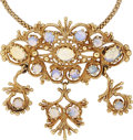Estate Jewelry:Brooches - Pins, Opal, Gold Pendant-Brooch-Necklace. ...