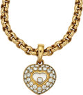 Estate Jewelry:Necklaces, Diamond, Gold Pendant-Necklace, Chopard. ...