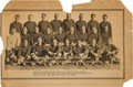 Football Collectibles:Others, 1932 Green Bay Packers Walker's Cleaners Cardboard Promotional Piece - Only Example Known!...