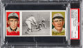 Baseball Cards:Singles (Pre-1930), 1912 T202 Hassan McConnell Caught Needham/Richie PSA NM-MT 8 - Highest Graded Example! ...