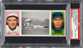 Baseball Cards:Singles (Pre-1930), 1912 T202 Hassan Nearly Caught Bates/Bescher PSA NM-MT 8 -Highest Graded Example!...