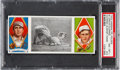 Baseball Cards:Singles (Pre-1930), 1912 T202 Hassan Oldring Almost Home Lord/Oldring PSA NM-MT+8.5. ...